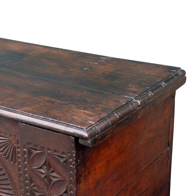 18th Century Carved Spanish Chest For Sale - Image 9 of 10