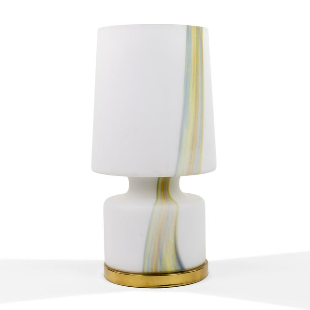 Laurel Lamp Company Vintage Murano Hand Blown Laurel Lamp Co. Glass Table Lamp For Sale - Image 4 of 5