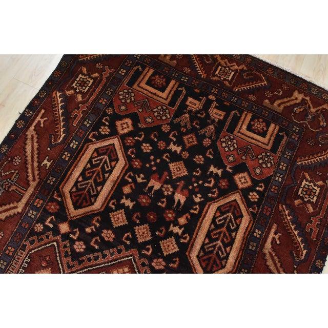 Textile Vintage Persian Koliai Rug - 4'3'' X 10'1'' For Sale - Image 7 of 13