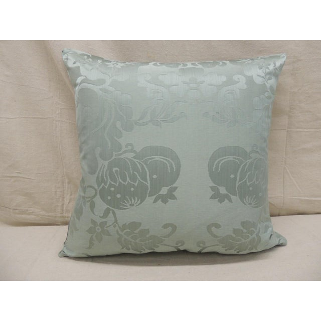 Antique Aubusson Tapestry Square Decorative Pillow For Sale In Miami - Image 6 of 8