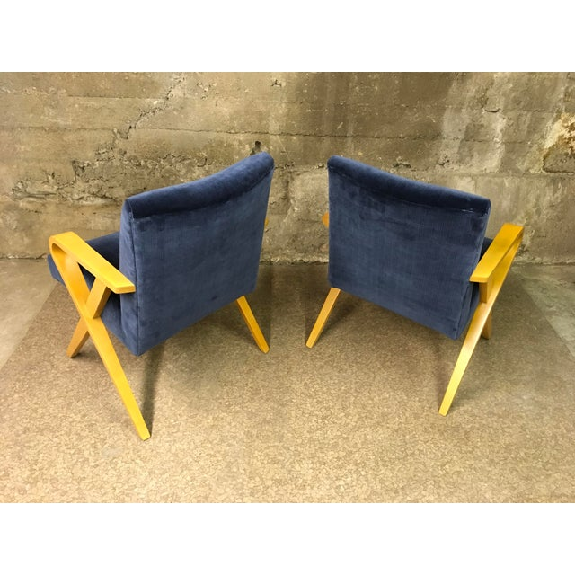 Art Deco 1940s Vintage Thonet Bentwood Armchairs - a Pair For Sale - Image 3 of 13