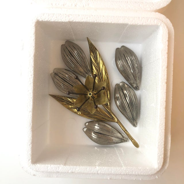 Antique Flower Sculpture With Removable Petals For Sale - Image 9 of 10
