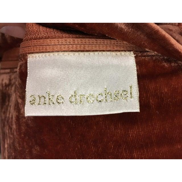 Anke Dreschel Velvet Embroidered Pillows - A Pair - Image 6 of 6