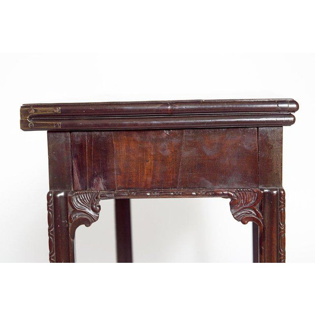 18th Century 18th Century George III Mahogany Concertina Action Card Table For Sale - Image 5 of 13