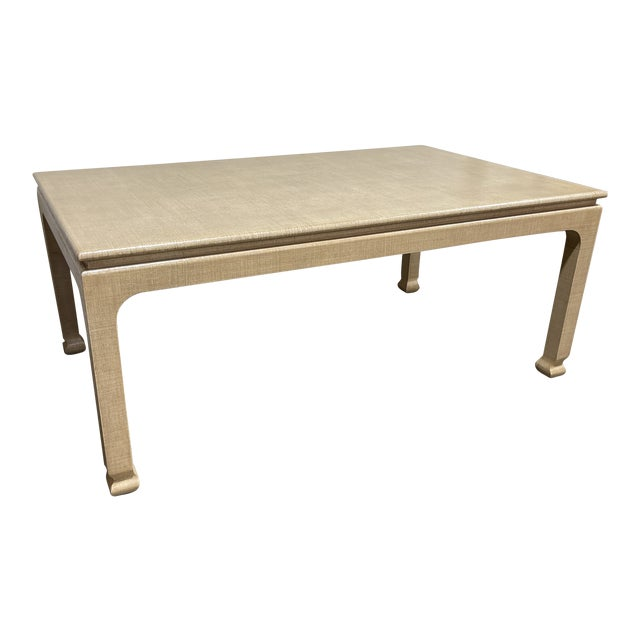 Harrison Van Horn Grass Cloth Dining Table For Sale