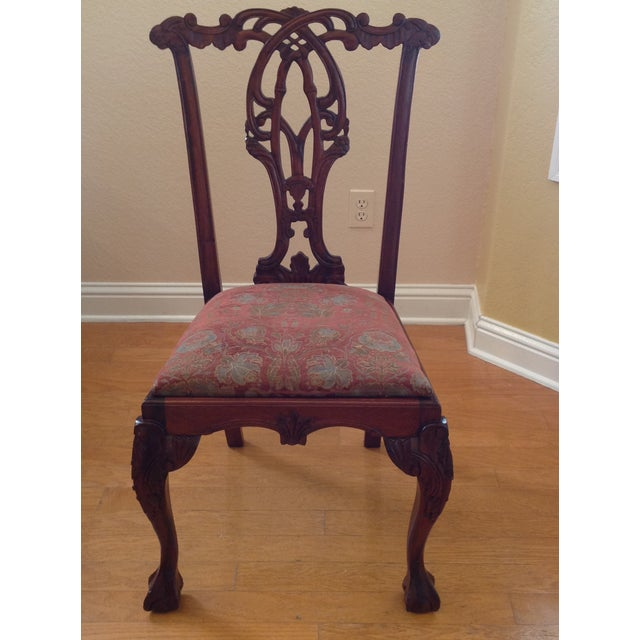 Chippendale Chippendale-Style Mahogany Dining Chairs - Set of 6 For Sale - Image 3 of 8