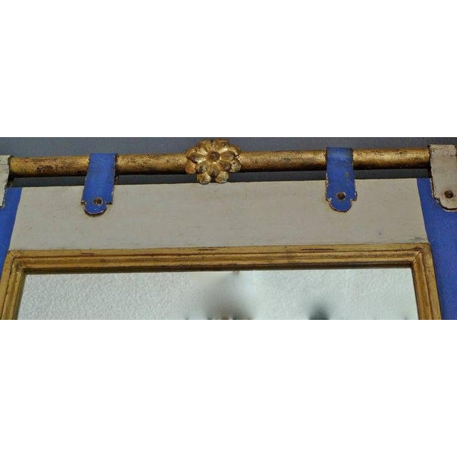 19th Century French Painted Wood Framed Mirror For Sale - Image 4 of 6