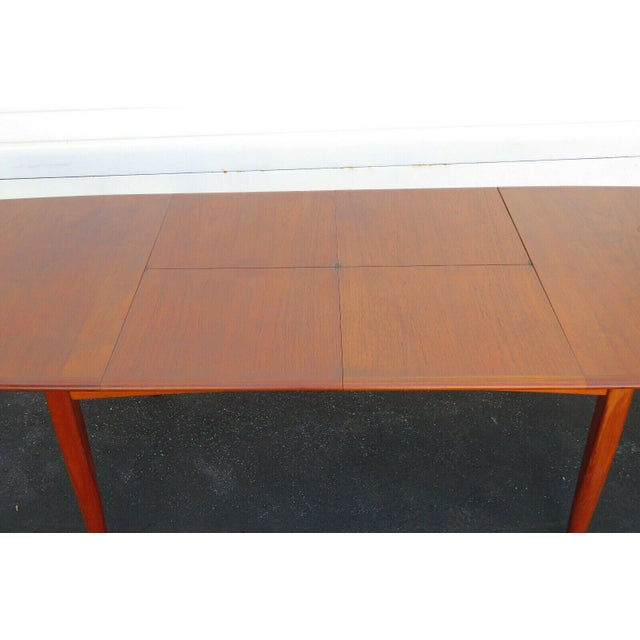 1960s Danish Modern Butterfly Leaf Dining Table Made by Falster For Sale - Image 5 of 11