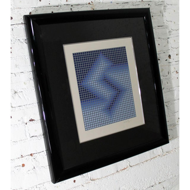 Mid-Century Modern Sembe by Victor Vasarely Serigraph in Color Pencil Signed Numbered For Sale - Image 3 of 9