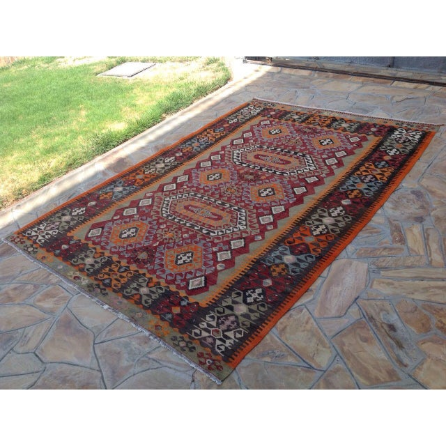 Vintage Turkish Kilim Rug - 6′10″ × 10′ - Image 3 of 7