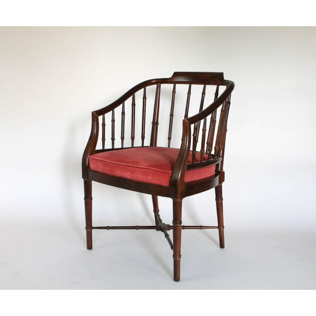 Faux Bamboo Armchair - Image 4 of 8