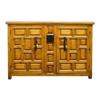 Vintage Spanish Pine Buffet For Sale