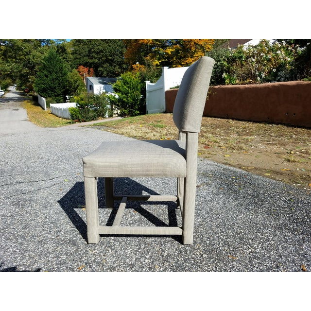 Contemporary Custom Boris Kroll Fabric Parsons Dining Chairs - Set of 4 For Sale - Image 3 of 5