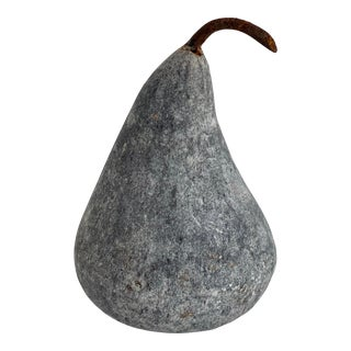 Small Gray Marble Pear For Sale