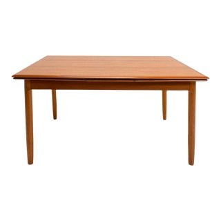 Danish Mid Century Teak Dining Table For Sale