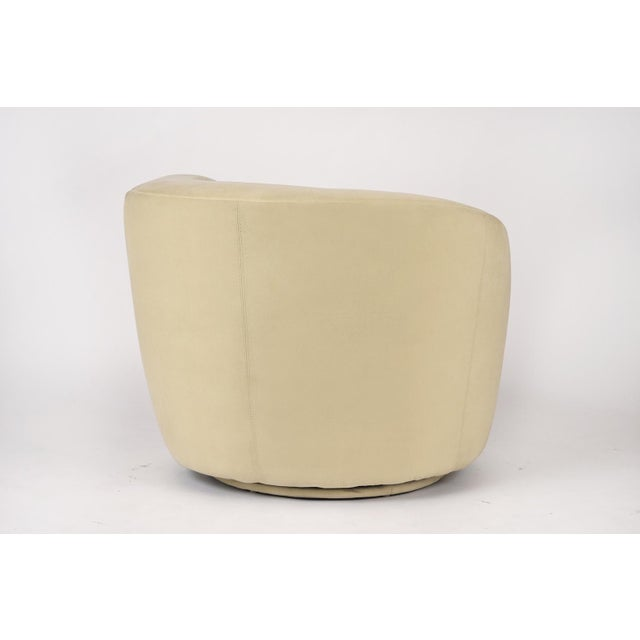 Ivory Pair of Vladimir Kagan 1970 Swivel Lounge Chairs For Sale - Image 8 of 10