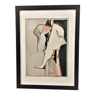 1960s Vintage Stanley Stangren Modernist Abstract Mixed Media Collage For Sale