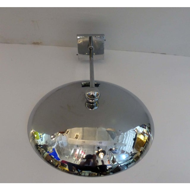 1950s Modern Chrome Disk Sconce For Sale In Miami - Image 6 of 9