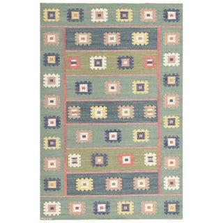 Vintage Swedish Carpet by Marta Maas-Fjetterström - 5′7″ × 8′4″ For Sale