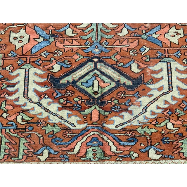 Rustic Antique Persian Sarapi Rug For Sale - Image 3 of 12