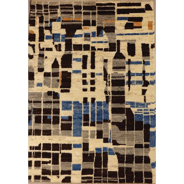 2010s Contemporary Modernist Design Rug - 3′10″ × 5′5″ For Sale - Image 5 of 5