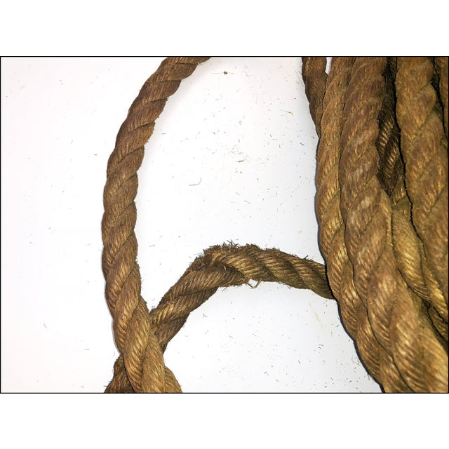 Vintage Nautical Woven Hemp Rope For Sale - Image 10 of 11
