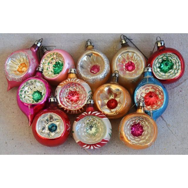 Vintage Fancy Indent Christmas Ornaments W/Box - Set of 12 For Sale - Image 9 of 9