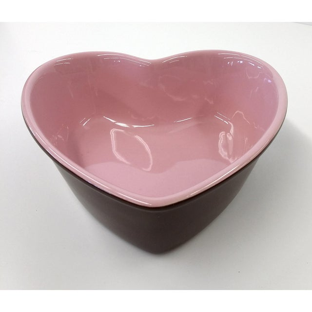 Chantal Pink Ceramic Heart-Shaped Bowl - Image 2 of 7