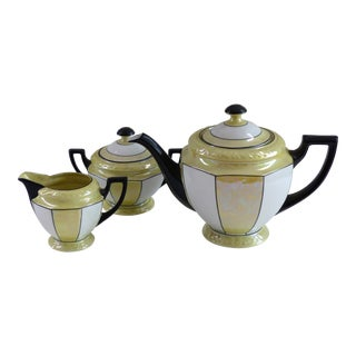 1950s Art Deco Czechoslavakia & Palto Tea Set - 3 Pieces