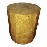 Image of Edward Wormley for Dunbar Burl Wood Side Table Bar For Sale