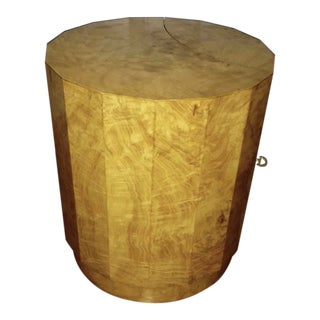 Edward Wormley for Dunbar Burl Wood Side Table Bar For Sale