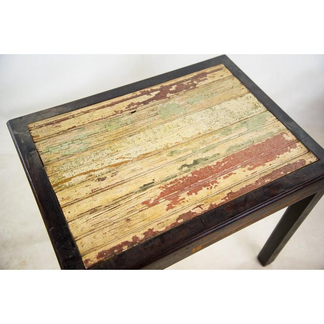 Modern Rustic Reclaimed Wood Side Table For Sale - Image 3 of 10