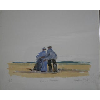 """""""Summer Souvenir"""" Limited Edition Serigraph Signed and Numbered by Frederick McDuff For Sale"""