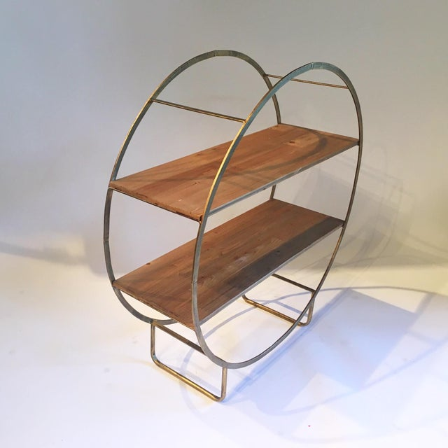 Two Tiered Bronze-Tone Circular Shelf - Image 3 of 4
