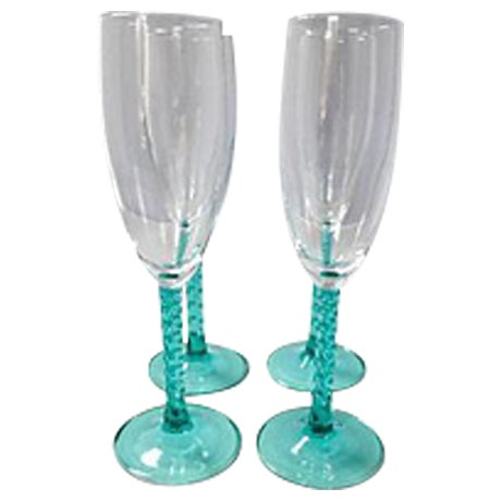 Blue Stem Champagnes Glasses - Set of 4 - Image 1 of 7