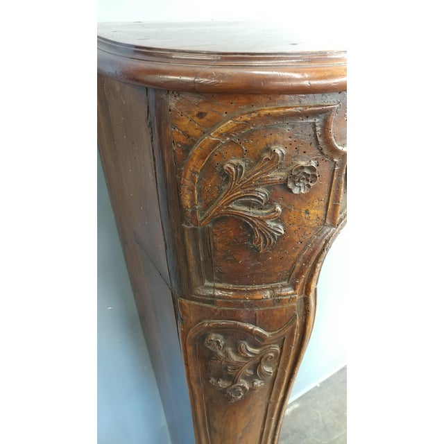 19th Century Hand Carved Walnut Fireplace Mantel - Image 6 of 10