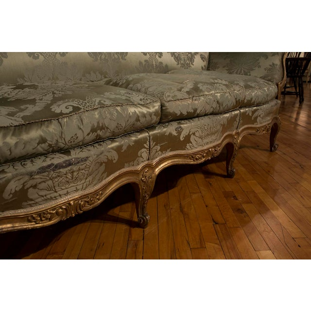 French 1900s Vintage French Gilt Wood Sofa For Sale - Image 3 of 4