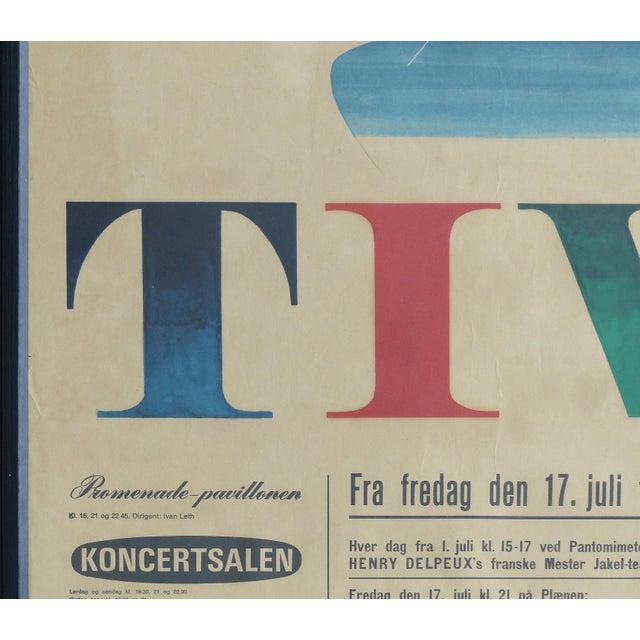 1964 Concert Poster From the Tivoli Gardens in Copenhagen, Denmark For Sale - Image 4 of 9