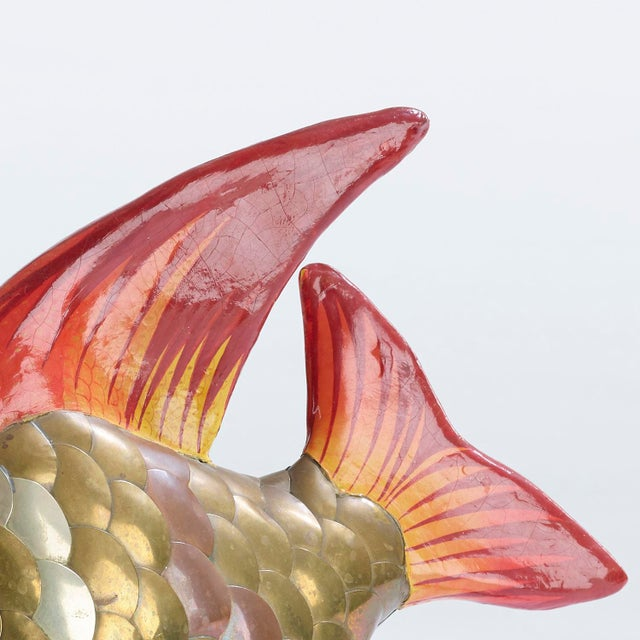 Sergio Bustamonte Vintage Fish Sculpture Attributed to Sergio Bustamante For Sale - Image 4 of 7