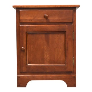 Solid Cherry Shaker Nightstand For Sale