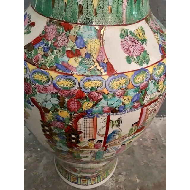 Asian Famille Rose Large Porcelain Vase For Sale - Image 3 of 6