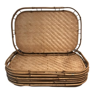 Bamboo Dinner Trays - Set of 8