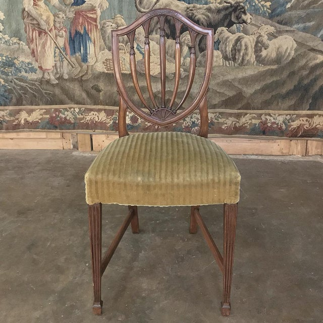 Set of 12 Antique English Sheraton Dining Chairs Includes Four Armchairs For Sale - Image 10 of 13