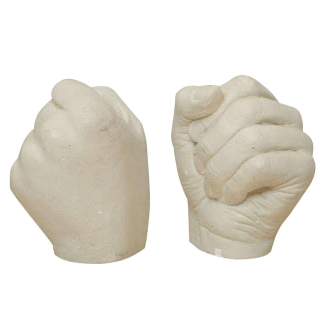 Richard Etts Plaster Candle Holders - a Pair For Sale