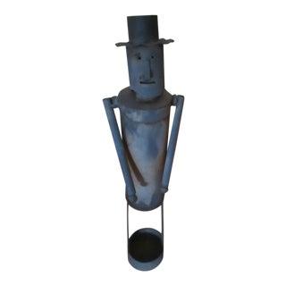 1940s Vintage Metal Man Sculpture For Sale