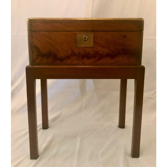 Antique English Mid 19th Century Mahogany Writing Box on Stand. For Sale In New Orleans - Image 6 of 6