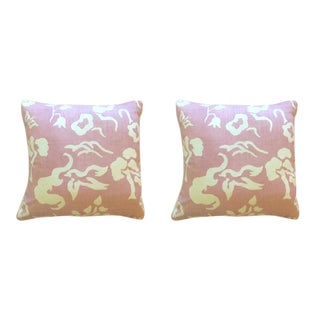 "Victoria Hagan ""Early Spring"" Lilac Pillows - a Pair For Sale"