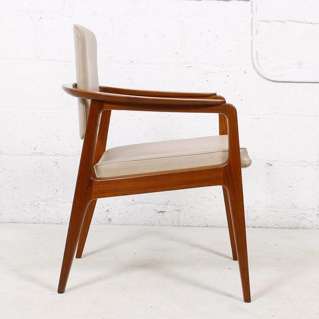 Danish Modern John Stuart Pivot-Back Danish Teak Accent Chair For Sale - Image 3 of 7