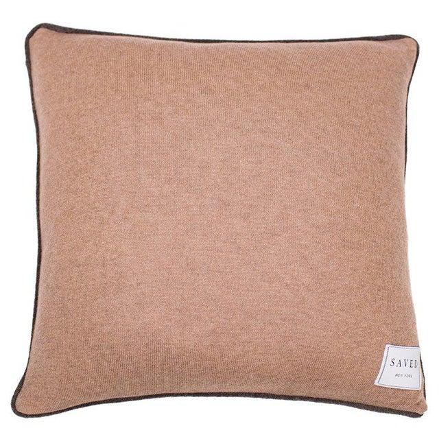 Pipe Pillow drawn by Patch NYC 100% Cashmere Size 20 x 20 Inches