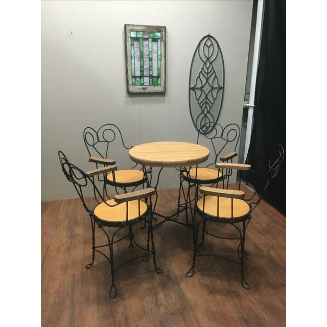 Vintage Cafe Dining Set - Image 3 of 6